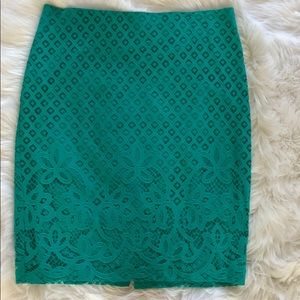 EUC Ann Taylor Loft Straight Skirt With Cut Outs.